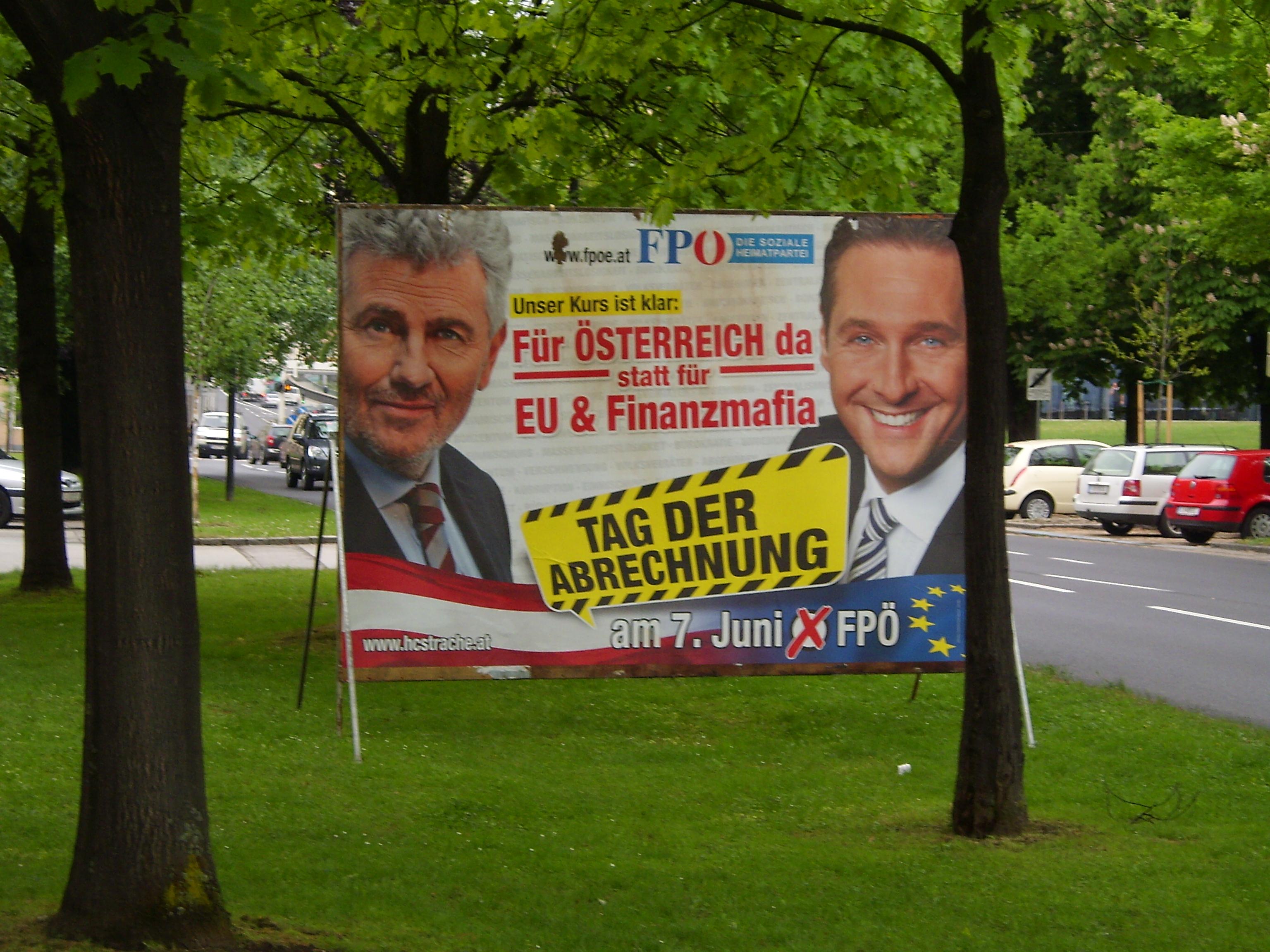FPÖ Plakat Europawahl