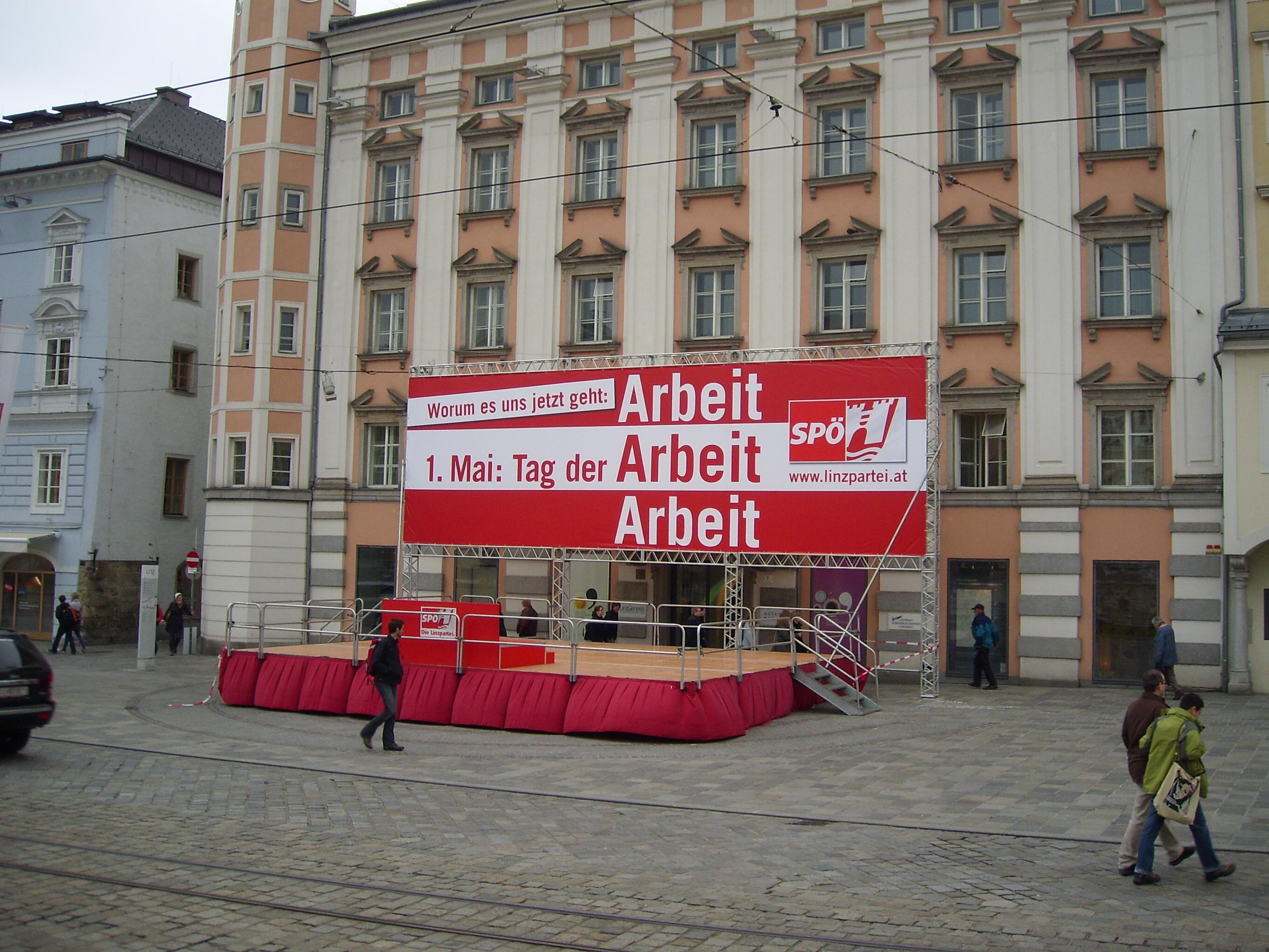SPÖ 1. Mai Kundgebung